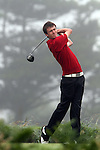 Ryan Thomas (WALES) on the 11th tee on the Final Day at the 2012 Boys Home Internationals at Co.Louth Golf Club in Baltray, Co.Louth...(Photo credit should read Jenny Matthews/NEWSFILE)...