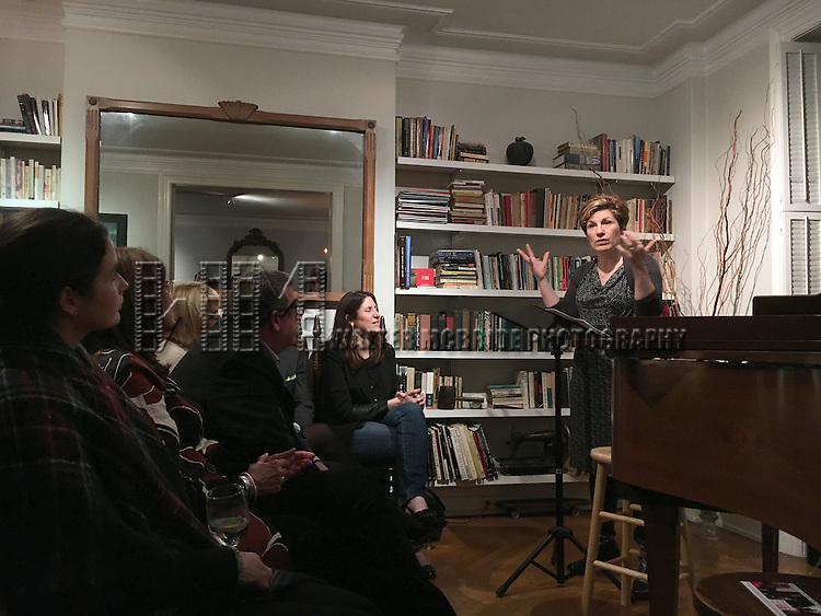 Lisa Kron during the DGF Salon with Lisa Kron at the home of Gretchen Cryer on May 2, 2016 in New York City.