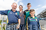 Pictured at the All-Ireland football semi-final in Croke Park on Sunday, were l-r: Ian, Rena, Darragh and Christopher Moynihan, Kilcummin, Killarney,