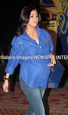 """Mumbai, India-05/03/2012: SHILPA SHETTY PREGNANT.A heavily pregnant Shilpa Shetty Kundra who is the co-owner of IPL cricket team  """"Rajasthan Royals"""" attends the unveiling of the team's new jersey in Mumbai. .This is the first child for the 36-year-old Shilpa. But her London-based husband businessman Raj Kundra, who she married in Novemver 2009, has a daughter from a previous relationship..It was reported that Shilpa suffered a miscarriage last year..The Bollywood actress became famous outside of her home country when she won the reality TV show in 2007 after being subjected to allegedly racial comments from fellow contestant Jade Goody..Mandatory Photo Credit: ©Pravin Utturkar-Solaris Images/NEWSPIX INTERNATIONAL..**ALL FEES PAYABLE TO: """"NEWSPIX INTERNATIONAL""""**..PHOTO CREDIT MANDATORY!!: NEWSPIX INTERNATIONAL(Failure to credit will incur a surcharge of 100% of reproduction fees)..IMMEDIATE CONFIRMATION OF USAGE REQUIRED:.Newspix International, 31 Chinnery Hill, Bishop's Stortford, ENGLAND CM23 3PS.Tel:+441279 324672  ; Fax: +441279656877.Mobile:  0777568 1153.e-mail: info@newspixinternational.co.uk"""