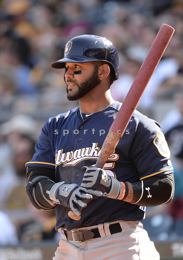 Milwaukee Brewers Jonathan Villar (5) during a game against the Pittsburgh Pirates on April 17, 2016 at PNC Park in Pittsburgh, PA. The Pirates beat the Brewers 9-3.