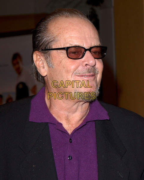 "JACK NICHOLSON.attends Columbia Pictures' Los Angeles Premiere of ""Spanglish"" held at The Mann's Village Theatre in Westwood, California, USA,December 9th 2004..portrait headshot sunglasses purple shirt .Ref: DVS.www.capitalpictures.com.sales@capitalpictures.com.©Capital Pictures."