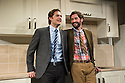 London, UK. 25.09.2013. THE LYONS, by Nicky Silver, opens at the Menier Chocolate Factory. Directed by Mark Brokaw, with lighting design by Jason Taylor and set and costume design by Jonathan Fensom. Picture shows: Ben Aldridge (Brian) and Tom Ellis (Curtis Lyons). Photograph © Jane Hobson, 2013.
