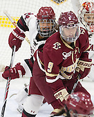 Chelsea Ziadie (Harvard - 24), Tori Sullivan (BC - 9) - The visiting Boston College Eagles defeated the Harvard University Crimson 2-0 on Tuesday, January 19, 2016, at Bright-Landry Hockey Center in Boston, Massachusetts.