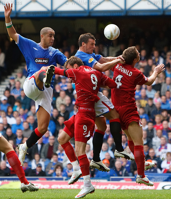 Madjid Bougherra and Lee McCulloch cause panic in the Aberdeen area