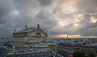 Opera Garnier, from Galleries Lafayette roof, Paris, France (+contr+vibr)