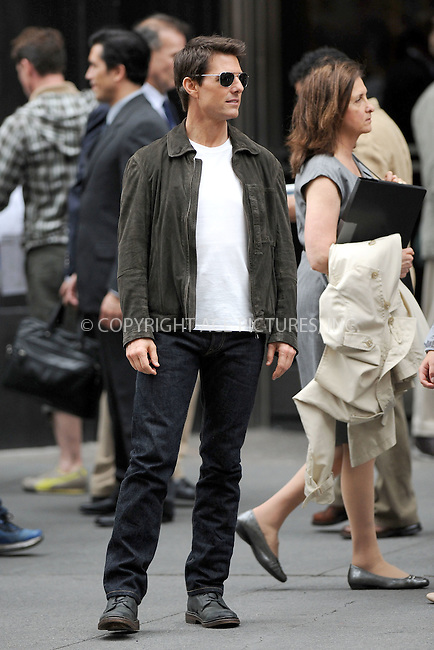 WWW.ACEPIXS.COM . . . . . .June 12, 2012...New York City....Tom Cruise on the Oblivion film set at the Empire State Building on June 12, 2012 in New York City ....Please byline: KRISTIN CALLAHAN - ACEPIXS.COM.. . . . . . ..Ace Pictures, Inc: ..tel: (212) 243 8787 or (646) 769 0430..e-mail: info@acepixs.com..web: http://www.acepixs.com .