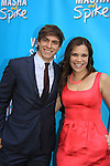 "Lindsay Mendez and Derek Klena at  Broadway's ""Vanya and Sonia and Masha and Spike"" which had its opening night on March 14, 2013 at the Golden Theatre, New York City, New York.  (Photo by Sue Coflin/Max Photos)"
