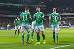 08.03.2019, Weserstadion, Bremen, GER, 1.FBL, Werder Bremen vs FC Schalke 04<br /> <br /> DFL REGULATIONS PROHIBIT ANY USE OF PHOTOGRAPHS AS IMAGE SEQUENCES AND/OR QUASI-VIDEO.<br /> <br /> im Bild / picture shows<br /> Jubel 1:1, Milot Rashica (Werder Bremen #11) bejubelt seinen Treffer zum 1:1 mit Davy Klaassen (Werder Bremen #30) und Max Kruse (Werder Bremen #10), <br /> <br /> Foto &copy; nordphoto / Ewert