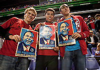 USA Fans. Costa Rica defeated U.S. Men's National Team 3-1 on June 3, 2009 at Saprissa Stadium in San Jose, Costa Rica..