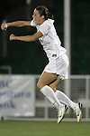 7 November 2007: Wake Forest's Kaley Fountain celebrates her overtime sudden victory goal. Wake Forest University defeated Duke University 1-0 in overtime at the Disney Wide World of Sports complex in Orlando, FL in an Atlantic Coast Conference tournament quarterfinal match.