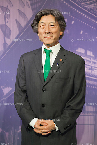 A wax figure of the Japanese politician Junichiro Koizumi on display at the Madame Tussauds Tokyo wax museum in Odaiba, Tokyo, June 15, 2015. The world famous British wax museum ''Madame Tussauds'' opened its 14th permanent branch in Tokyo in 2013 and exhibits international and local celebrities, sports players and politicians. New additions to the collection include wax figures of the Japanese figure skater Yuzuru Hanyu and the actor Benedict Cumberbatch. The wax figure of Benedict Cumberbatch will be exhibited until June 30th. (Photo by Rodrigo Reyes Marin/AFLO)