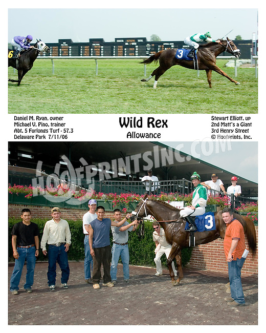 Wild Rex winning at Delaware Park on 7/11/06