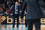 Real Madrid coach Pablo Laso during Turkish Airlines Euroleague match between Real Madrid and Crvena Zvezda at Wizink Center in Madrid, Spain. December 01, 2017. (ALTERPHOTOS/Borja B.Hojas)