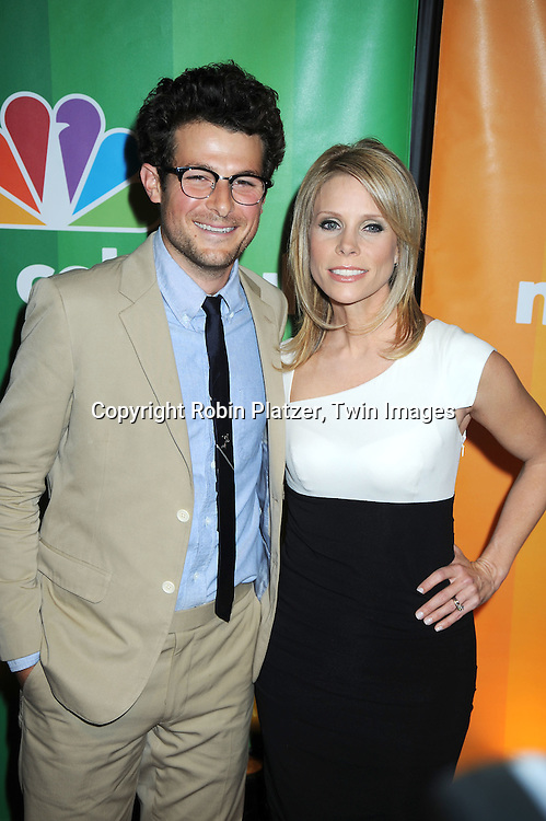 """Jacob Soboroff and Cheryl Hines of """"School Pride"""" posing for photographers at the NBC Universal's Upfront presentation of the 2010-2011 Season on May 17, 2010 at The New York Hilton Hotel in New York City."""