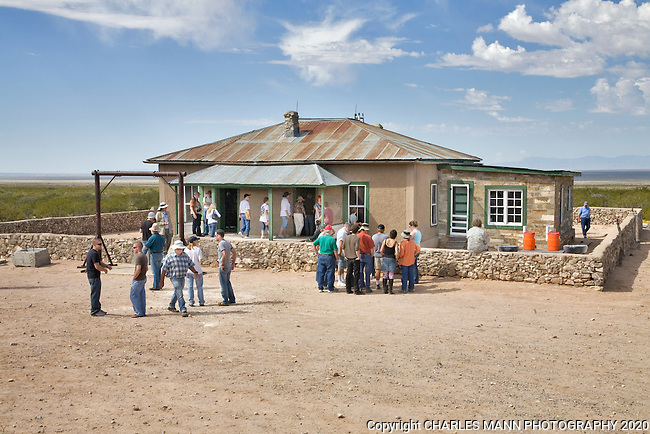 The TrinityTest Site, where the first atomic bomb was exploded on July 16, 1945, is open to the public on the first Saturday of April and October. The MacDonald Farmhouse, where the bomb was assembled, is part of the Trinity Test Site tour.