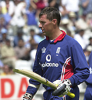 .29/06/2002.Sport - Cricket - .NatWest triangler Series England - Sri Lanka - India.England vs india 50 overs.  Lord's ground.England batting - Marcus Trescothick ...
