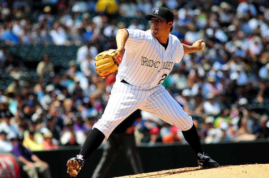 June 21, 2009: Rockies pitcher Jorge De la Rosa during a game between the Pittsburgh Pirates and the Colorado Rockies at Coors Field in Denver, Colorado. The Rockies beat the Pirates 5-4, to improve to 16-1 in the last 17 games.