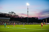 Kansas City, Mo. - Saturday April 23, 2016: The sun sets during the match. FC Kansas City hosts Portland Thorns FC at Swope Soccer Village. The match ended in a 1-1 draw.