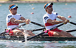 Rowing, Canada Lightweight Men's Double Sculls, Cam Sylvester (Caledon, ON) Western RC, Doug Vandor (Dewittville, ON) McGill University RC, 2011 FISA World Rowing Championships, Lake Bled, Bled, Slovenia, Europe, Rowing Canada Aviron,.