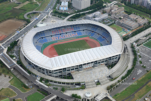International stadium Yokohama: Tokyo, Japan: Aerial view of proposed venue for the 2020 Summer Olympic Games. (Photo by AFLO)