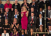 Ivanka Trump applauds during U.S. President Donald J. Trump address to a joint session of Congress on Capitol Hill in Washington, DC, February 28, 2017. <br /> Credit: Chris Kleponis / CNP