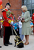 CAMILLA, DUCHESS OF CORNWALL<br /> meets Watchman V the Mascot of The 3rd Battalion, The Mercian Regiment, during a visit to the Defence Medical Services (Whittington).<br /> She formally dedicated the Defence Medical Services (Whittington), the new home of the Defence Medical Training at a Families Day attended by personnel, their families, and representatives from the local community_08/05/2014<br /> Mandatory Credit Photo: &copy;MOD-Crown Copyright/NEWSPIX INTERNATIONAL<br /> <br /> **ALL FEES PAYABLE TO: &quot;NEWSPIX INTERNATIONAL&quot;**<br /> <br /> IMMEDIATE CONFIRMATION OF USAGE REQUIRED:<br /> Newspix International, 31 Chinnery Hill, Bishop's Stortford, ENGLAND CM23 3PS<br /> Tel:+441279 324672  ; Fax: +441279656877<br /> Mobile:  07775681153<br /> e-mail: info@newspixinternational.co.uk