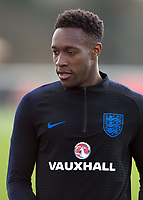 Danny Welbeck of England during the England National Team Training ahead of the international friendly match with Italy at Tottenham Hotspur Training Ground, Hotspur Way, England on 26 March 2018. Photo by Vince  Mignott.