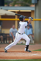 Lakeland Flying Tigers third baseman Zach Shepherd (18) bats during a game against the Brevard County Manatees April 19, 2016 at Henley Field in Lakeland, Florida.  Lakeland defeated Brevard County 9-2.  (Mike Janes/Four Seam Images)