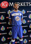 IG Markets,broker online of CFDs is Getafe's new official sponsor..Getafe's player Ibrahim Kas during the presentation.(ALTERPHOTOS/Acero).