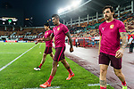 Guangzhou Midfielder Paulinho Maciel (C) and Guangzhou Forward Ricardo Goulart (R) on their warming up session during the AFC Champions League 2017 Round of 16 match between Guangzhou Evergrande FC (CHN) vs Kashima Antlers (JPN) at the Tianhe Stadium on 23 May 2017 in Guangzhou, China. (Photo by Power Sport Images/Getty Images)