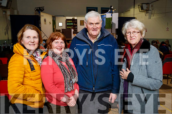 Maureen Weir, Geraldine Finucane, Tommy Kelly and Anne O'Halloran, Kilflynn, pictured at 'The Cripple of Inishmaan' at Ardfert Community Centre on Friday night last.