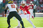 Wisconsin Badgers Madison Cone (24) defends during an NCAA Big Ten Conference football game against the Maryland Terrapins Saturday, October 21, 2017, in Madison, Wis. The Badgers won 38-13. (Photo by David Stluka)