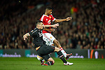 Dejan Lovren of Liverpool tackles Marcus Rashford of Manchester United during the UEFA Europa League match at Old Trafford. Photo credit should read: Philip Oldham/Sportimage