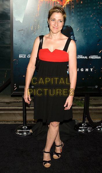 "EDIE FALCO.World Premiere of ""The Dark Knight"".at the AMC Loews Lincoln Square IMAX Theater, New York, NY, USA..July 14th, 2008.batman full length black dress red .CAP/LNC.©TOM/LNC/Capital Pictures."