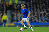 28th September 2017, Goodison Park, Liverpool, England; UEFA Europa League group stage, Everton versus Apollon Limassol; Tom Davies of Everton FC with the ball