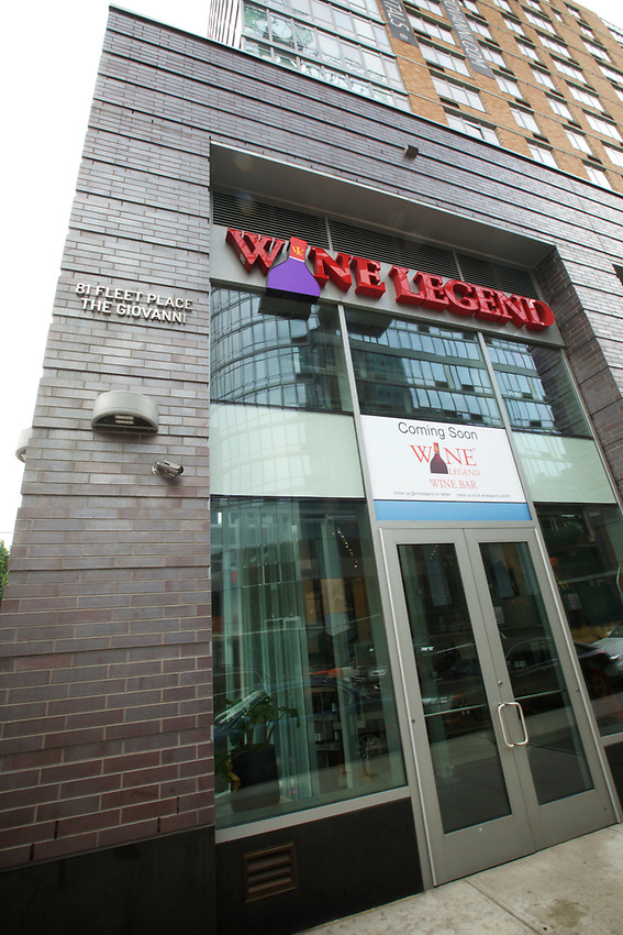 BROOKLYN, NY - July 11, 2017: The opening of Wine Legend, a new wine bar and retail outlet in Fort Greene.<br /> <br /> Credit: Clay Williams.<br /> <br /> &copy; Clay Williams / http://claywilliamsphoto.com