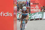 Tony Gallopin (FRA) AG2R La Mondiale struggles to cross the finish line at the end of Stage 20 of the La Vuelta 2018, running 97.3km from Andorra Escaldes-Engordany to Coll de la Gallina, Spain. 15th September 2018.                   <br /> Picture: Colin Flockton | Cyclefile<br /> <br /> <br /> All photos usage must carry mandatory copyright credit (© Cyclefile | Colin Flockton)
