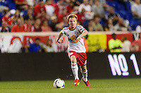 Dax McCarty (11) of the New York Red Bulls. The New York Red Bulls and the Philadelphia Union played to a 0-0 tie during a Major League Soccer (MLS) match at Red Bull Arena in Harrison, NJ, on August 17, 2013.
