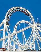 AMUSEMENT PARK RIDE: ELLIPSOID ROLLER COASTER<br />