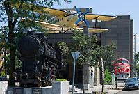 HUN, Ungarn, Budapest, Stadtteil Pest: am Stadtwaeldchen: Verkehrsmuseum   HUN, Hungary, Budapest, Pest District: Transport Museum