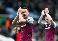 John Terry of Aston Villa. celebrates Aston Villa's victory against Birmingham City.<br /> <br /> Photographer Leila Coker/CameraSport<br /> <br /> The EFL Sky Bet Championship - Aston Villa v Birmingham City - Sunday 11th February 2018 - Villa Park - Birmingham<br /> <br /> World Copyright &copy; 2018 CameraSport. All rights reserved. 43 Linden Ave. Countesthorpe. Leicester. England. LE8 5PG - Tel: +44 (0) 116 277 4147 - admin@camerasport.com - www.camerasport.com<br /> Photographer Leila Coker/CameraSport<br /> <br /> The EFL Sky Bet Championship - Aston Villa v Birmingham City - Sunday 11th February 2018 - Villa Park - Birmingham<br /> <br /> World Copyright &copy; 2018 CameraSport. All rights reserved. 43 Linden Ave. Countesthorpe. Leicester. England. LE8 5PG - Tel: +44 (0) 116 277 4147 - admin@camerasport.com - www.camerasport.com