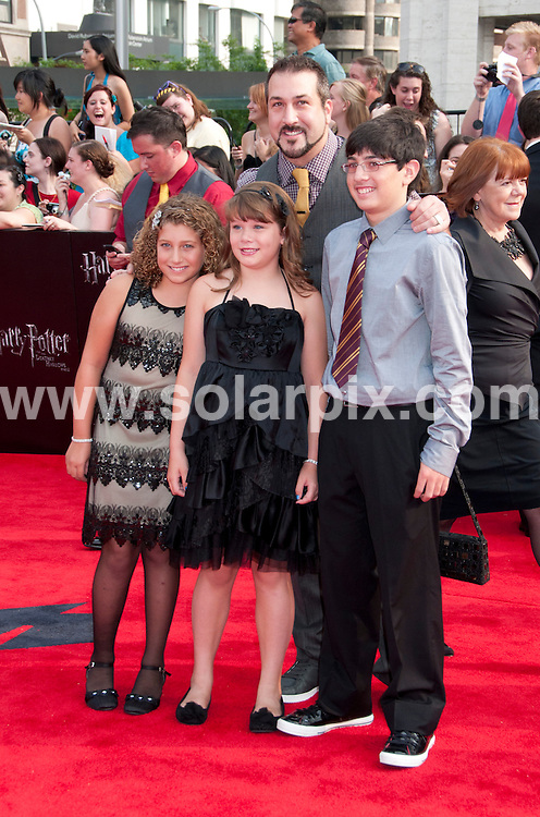 **ALL ROUND PICTURES FROM SOLARPIX.COM**                                             **UK SYNDICATION RIGHTS ONLY**    .Caption: New York premiere of Harry Potter And The Deathly Hallows: Part 2. Held at the Avery Fisher Hall, Lincoln Center, New York , USA. July 11, 2011.                                                                         This pic: Joey Fatone                                                                   JOB REF: 13693 RHB       DATE: 11_07_2011                                                           **MUST CREDIT SOLARPIX.COM OR DOUBLE FEE WILL BE CHARGED**                                                                      **MUST AGREE FEE BEFORE ONLINE USAGE**                               **CALL US ON: +34 952 811 768 or LOW RATE FROM UK 0844 617 7637**