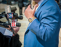 Political candidate Bo Dietl wearing Rolex brand watch in New York on Tuesday, March 21, 2017. (© Richard B. Levine)