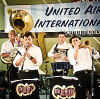 New Bumpers Revival Brass Band playing at French Quarter Festival 2011.