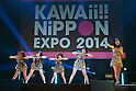 "Tokyo, Japan - The idol group 9nine performs at ""Kawaii!! Nippon Expo 2014"" in the International Convention Complex Makuhari Messe on May 10, 2014. Several famous Idols such as Tomomi Itano, Kyary Pamyu Pamyu and Harayuku models attend the Kawaii!! Nippon Expo 2014 (Photo by Rodrigo Reyes Marin/AFLO)"