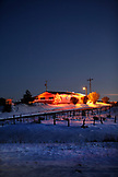 USA, New Mexico, house lit up with holiday lights, Tierra Amarilla