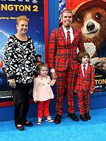 6 January 2018 - Los Angeles, California - Perez Hilton, mother Teresita Lavandeira, daughter Mia Alma Lavandeira and son Mario Armando Lavandeira III. &ldquo;Paddington 2&rdquo; L.A. Premiere held at the Regency Village Theatre.     <br /> CAP/ADM<br /> &copy;ADM/Capital Pictures