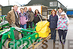 Enjoying the farm machinery display in Hoare's Machinery Killorglin on Saturday were l-r: John Murphy Grass Care main dealer, Nuala Quigg Killorglin, Fred Cronin, tralee, Tim Hoare, Helena Kelleher, Mary Counihan, all Killorglin, Suzanne and Kayleigh Moriary Caragh lake