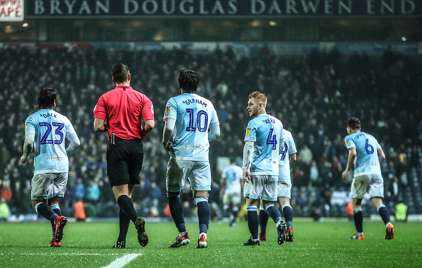 Blackburn Rovers' Danny Graham celebrates scoring his sides third goal with his fellow team mates <br /> <br /> Photographer Rachel Holborn/CameraSport<br /> <br /> The EFL Sky Bet Championship - Blackburn Rovers v Sheffield Wednesday - Saturday 1st December 2018 - Ewood Park - Blackburn<br /> <br /> World Copyright © 2018 CameraSport. All rights reserved. 43 Linden Ave. Countesthorpe. Leicester. England. LE8 5PG - Tel: +44 (0) 116 277 4147 - admin@camerasport.com - www.camerasport.com